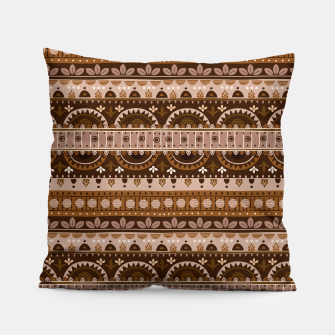 Tribal Pattern - 09 Light Brown Pillow thumbnail image