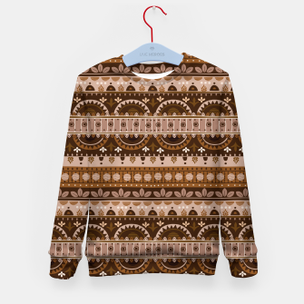 Tribal Pattern - 09 Light Brown Kid's sweater thumbnail image