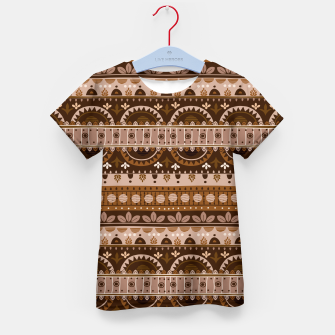 Tribal Pattern - 09 Light Brown Kid's t-shirt thumbnail image