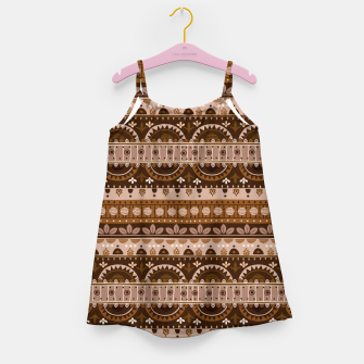 Thumbnail image of Tribal Pattern - 09 Light Brown Girl's dress, Live Heroes
