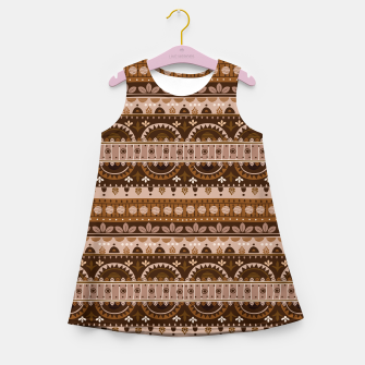 Thumbnail image of Tribal Pattern - 09 Light Brown Girl's summer dress, Live Heroes