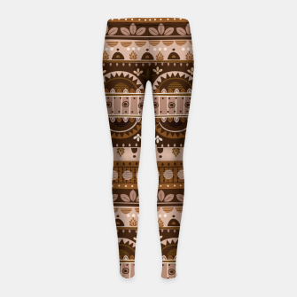 Tribal Pattern - 09 Light Brown Girl's leggings thumbnail image