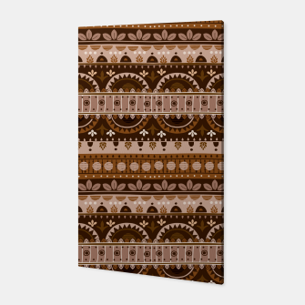 Tribal Pattern - 09 Light Brown Canvas thumbnail image