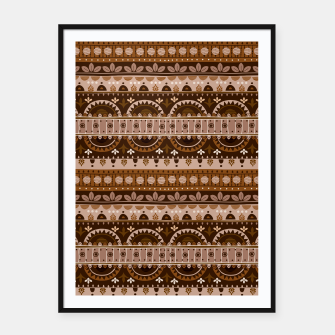 Thumbnail image of Tribal Pattern - 09 Light Brown Framed poster, Live Heroes