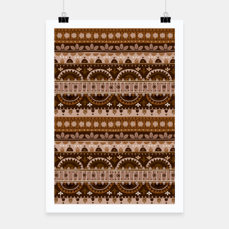 Tribal Pattern - 09 Light Brown Poster thumbnail image