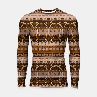 Thumbnail image of Tribal Pattern - 09 Light Brown Longsleeve rashguard , Live Heroes
