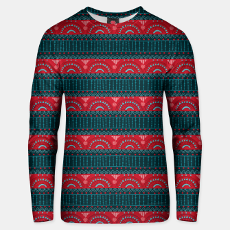 Tribal Pattern - 10 Red Bands Unisex sweater thumbnail image
