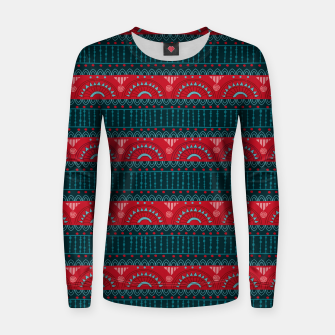 Thumbnail image of Tribal Pattern - 10 Red Bands Women sweater, Live Heroes