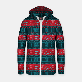 Thumbnail image of Tribal Pattern - 10 Red Bands Zip up hoodie, Live Heroes