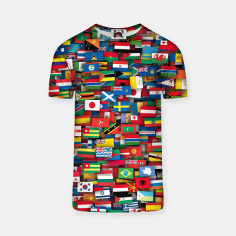 Miniature de image de Flags of all countries of the world T-shirt, Live Heroes