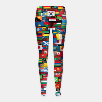 Miniature de image de Flags of all countries of the world Girl's leggings, Live Heroes