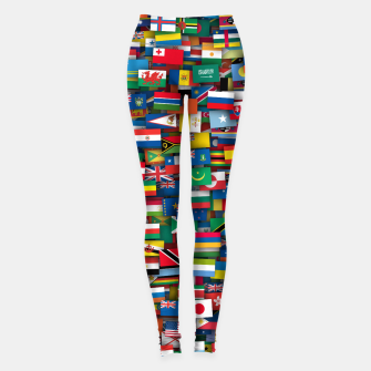 Thumbnail image of Flags of all countries of the world Leggings, Live Heroes