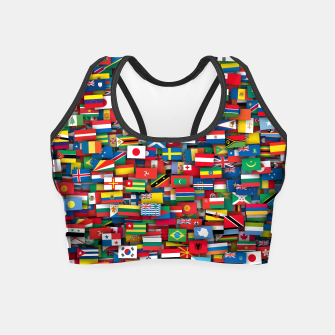 Thumbnail image of Flags of all countries of the world Crop Top, Live Heroes