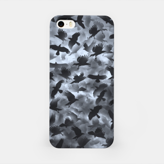 Thumbnail image of Crows in the night sky  iPhone Case, Live Heroes