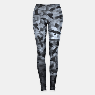 Thumbnail image of Crows in the night sky  Leggings, Live Heroes