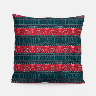 Tribal Pattern - 10 Red Bands Pillow thumbnail image