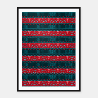 Thumbnail image of Tribal Pattern - 10 Red Bands Framed poster, Live Heroes