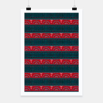 Tribal Pattern - 10 Red Bands Poster thumbnail image