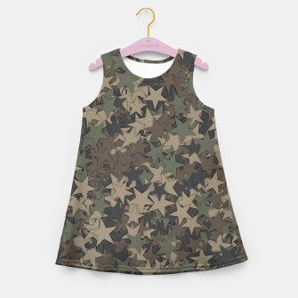 Thumbnail image of Stars camouflage Girl's summer dress, Live Heroes