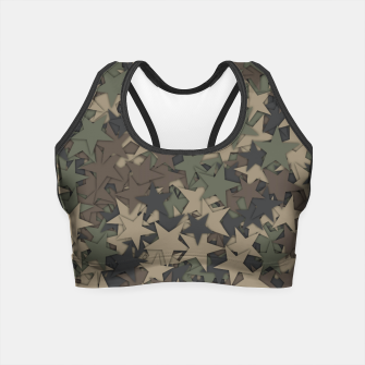 Thumbnail image of Stars camouflage Crop Top, Live Heroes