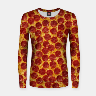 Thumbnail image of Pepperoni pizza Women sweater, Live Heroes