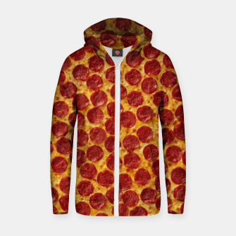 Thumbnail image of Pepperoni pizza Zip up hoodie, Live Heroes