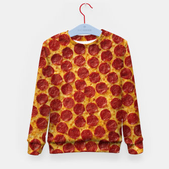 Thumbnail image of Pepperoni pizza Kid's sweater, Live Heroes