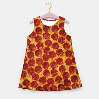 Thumbnail image of Pepperoni pizza Girl's summer dress, Live Heroes