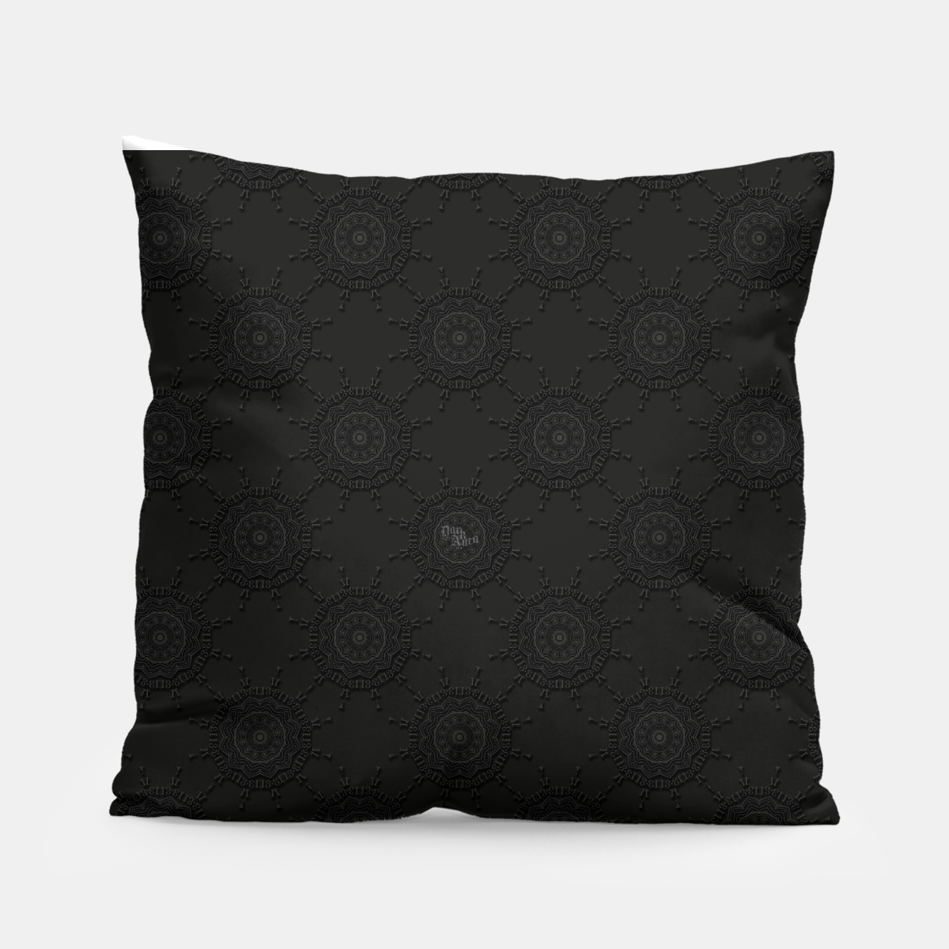 Image of 13 - weird pattern, gothic numerology Pillow - Live Heroes