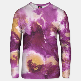 Pink Gold Abstract Painting #1 #ink #decor #art  Unisex sweatshirt obraz miniatury