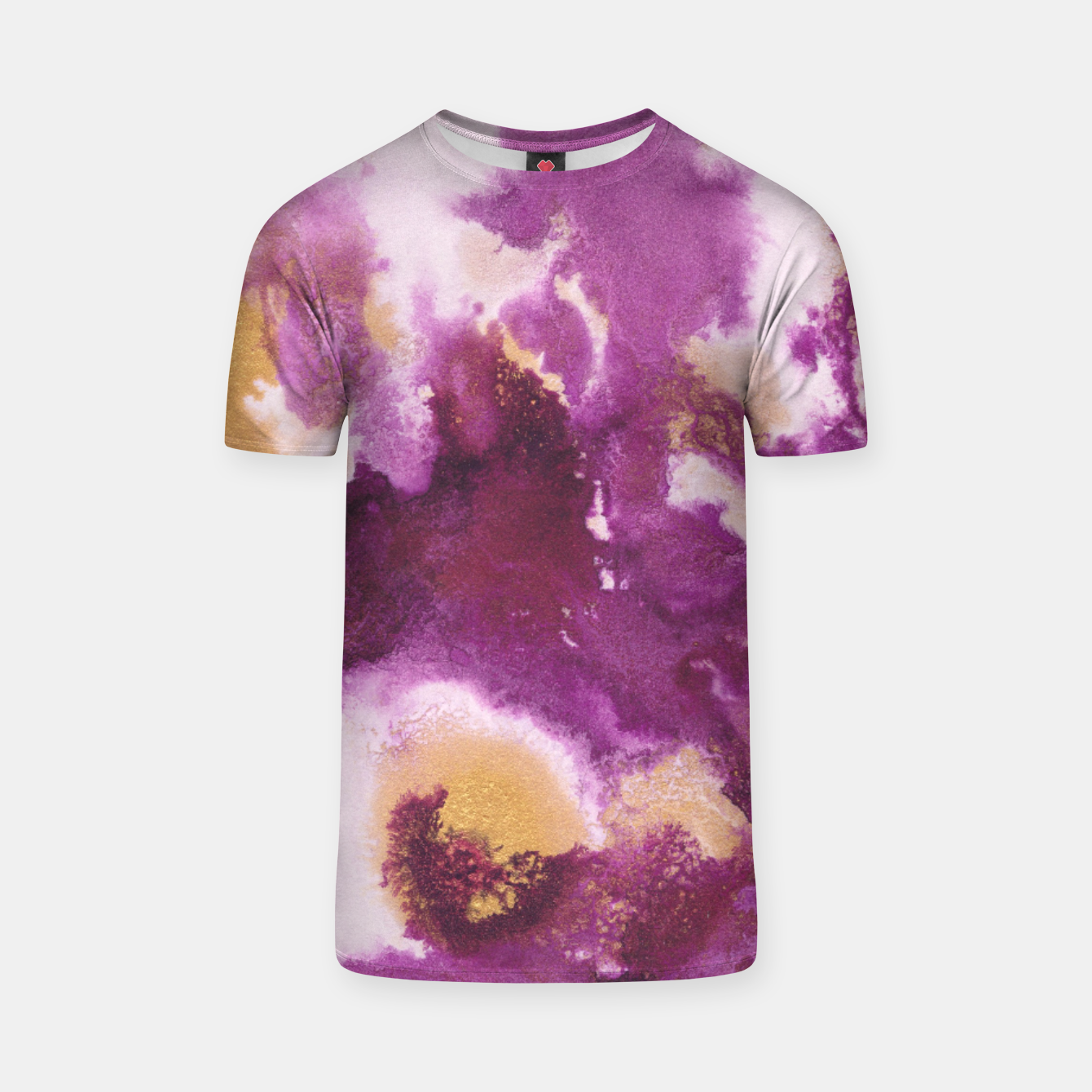 Zdjęcie Pink Gold Abstract Painting #1 #ink #decor #art  T-Shirt - Live Heroes