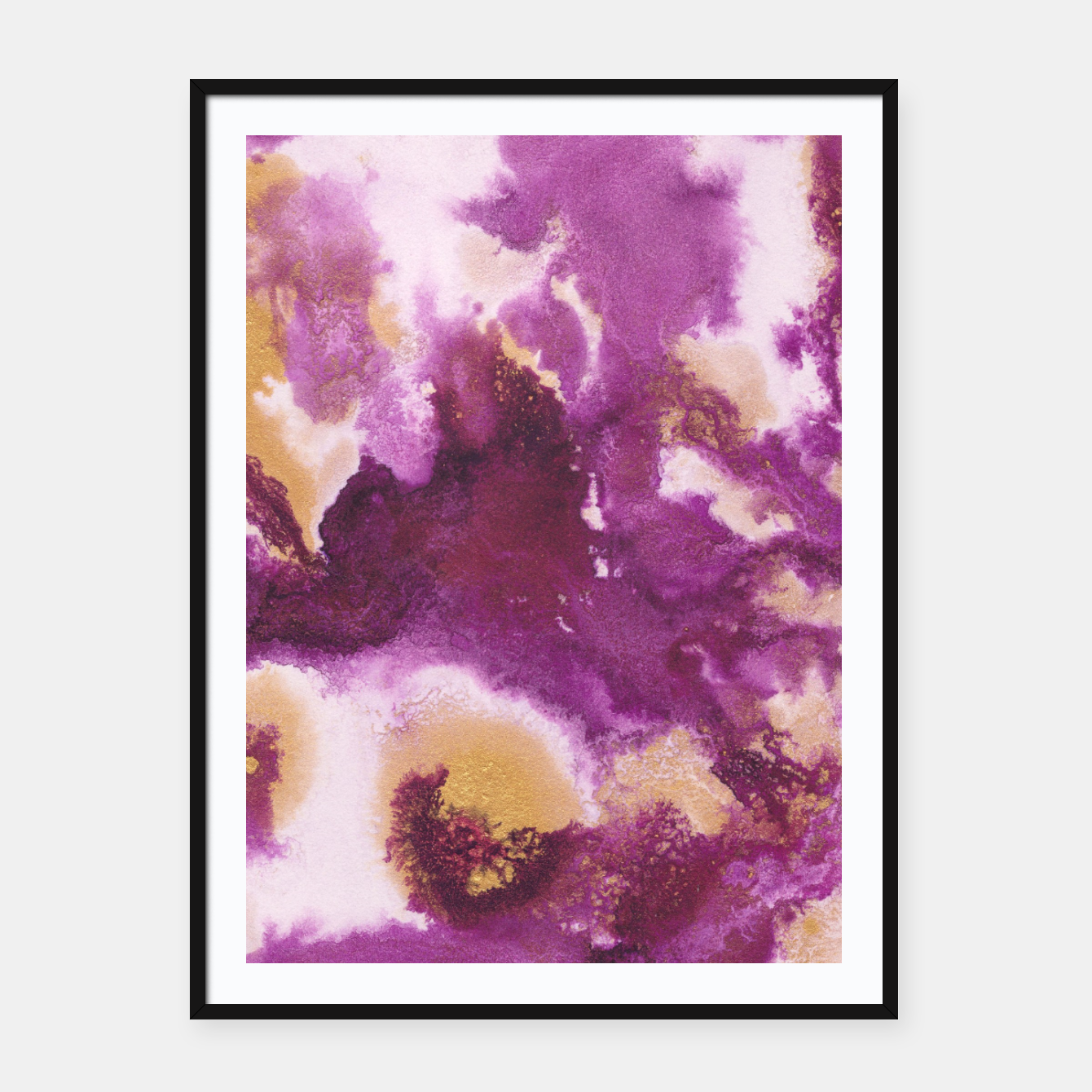 Zdjęcie Pink Gold Abstract Painting #1 #ink #decor #art  Plakat mit rahmen - Live Heroes