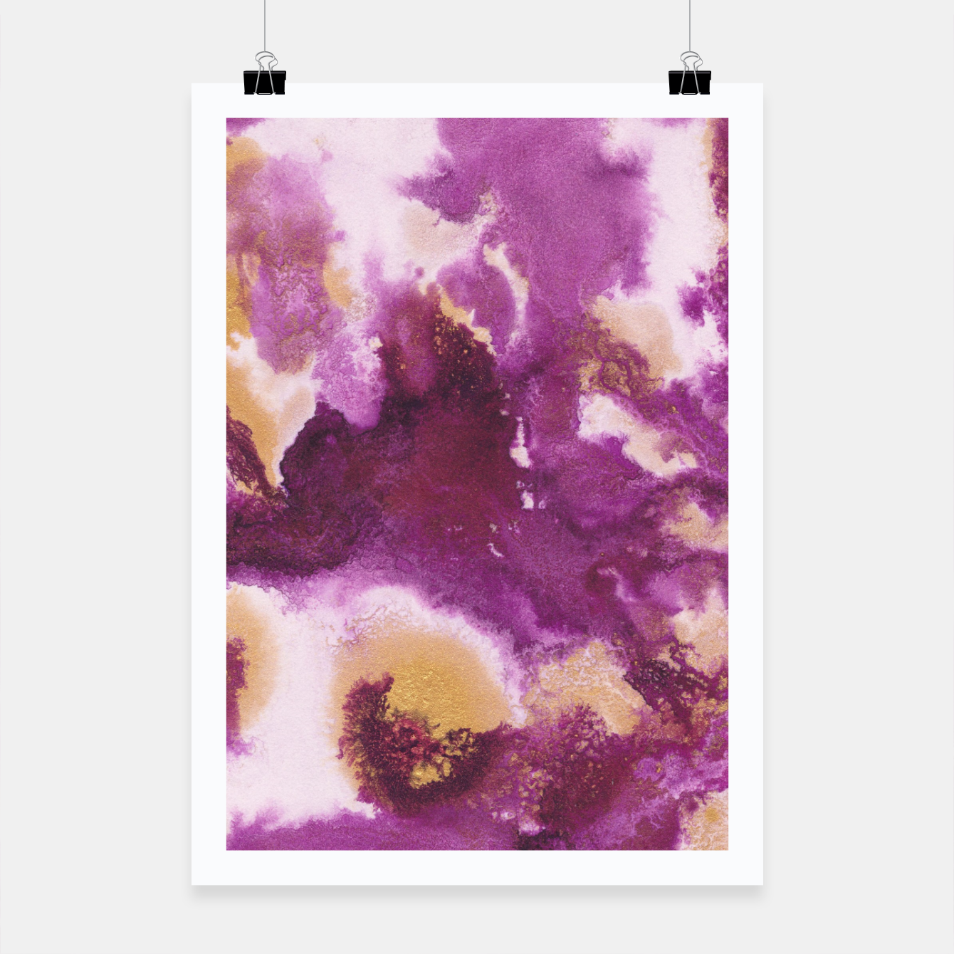 Zdjęcie Pink Gold Abstract Painting #1 #ink #decor #art  Plakat - Live Heroes