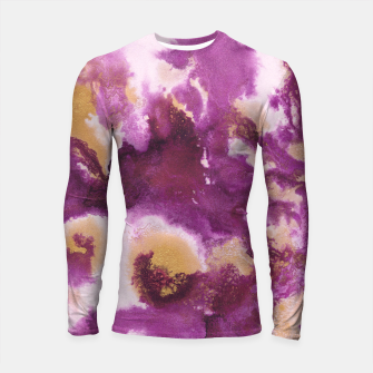 Pink Gold Abstract Painting #1 #ink #decor #art  Longsleeve rashguard obraz miniatury