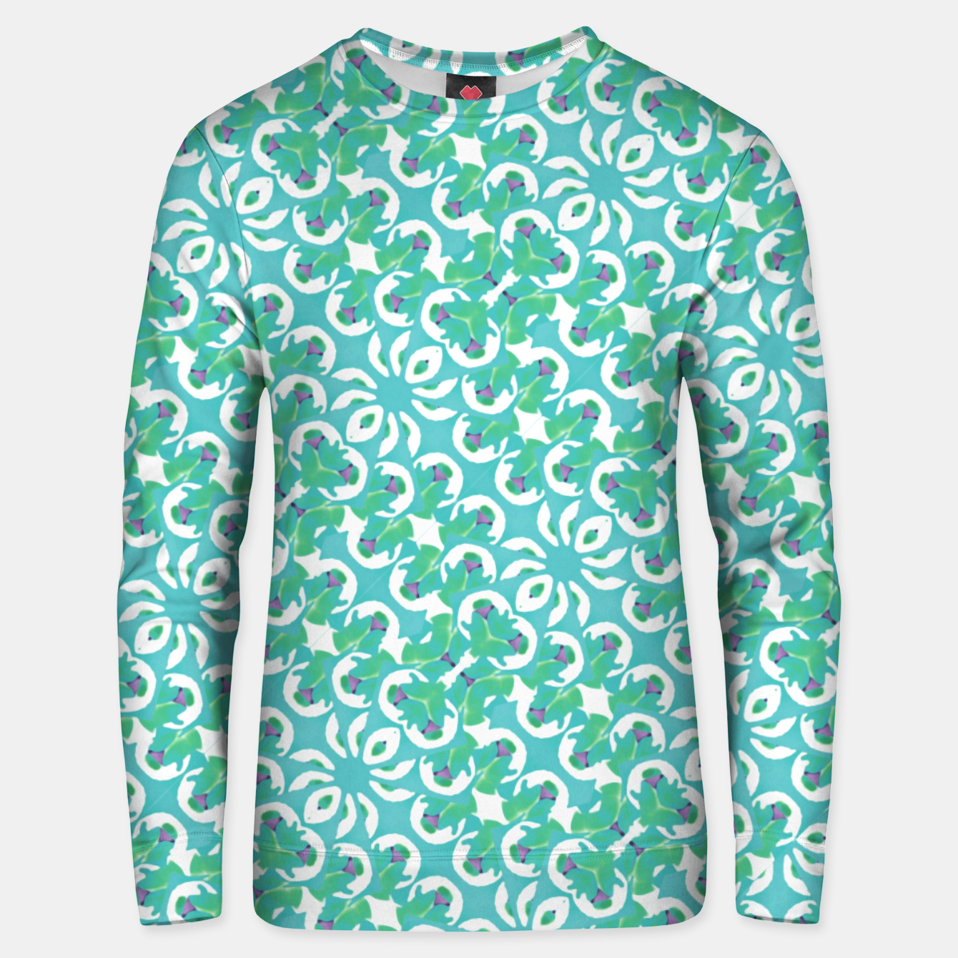 Zdjęcie Colorful Abstract Print Pattern Unisex sweater - Live Heroes