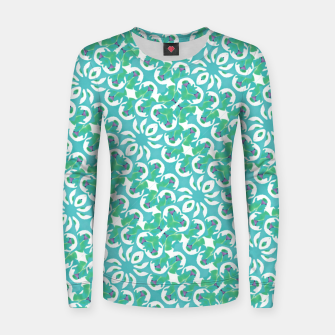 Colorful Abstract Print Pattern Women sweater obraz miniatury
