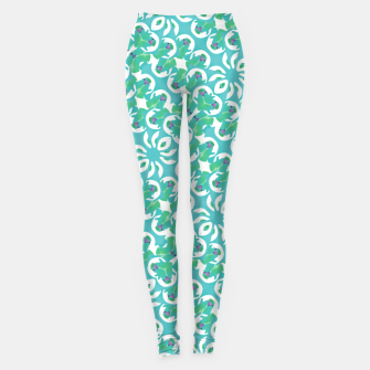 Colorful Abstract Print Pattern Leggings obraz miniatury