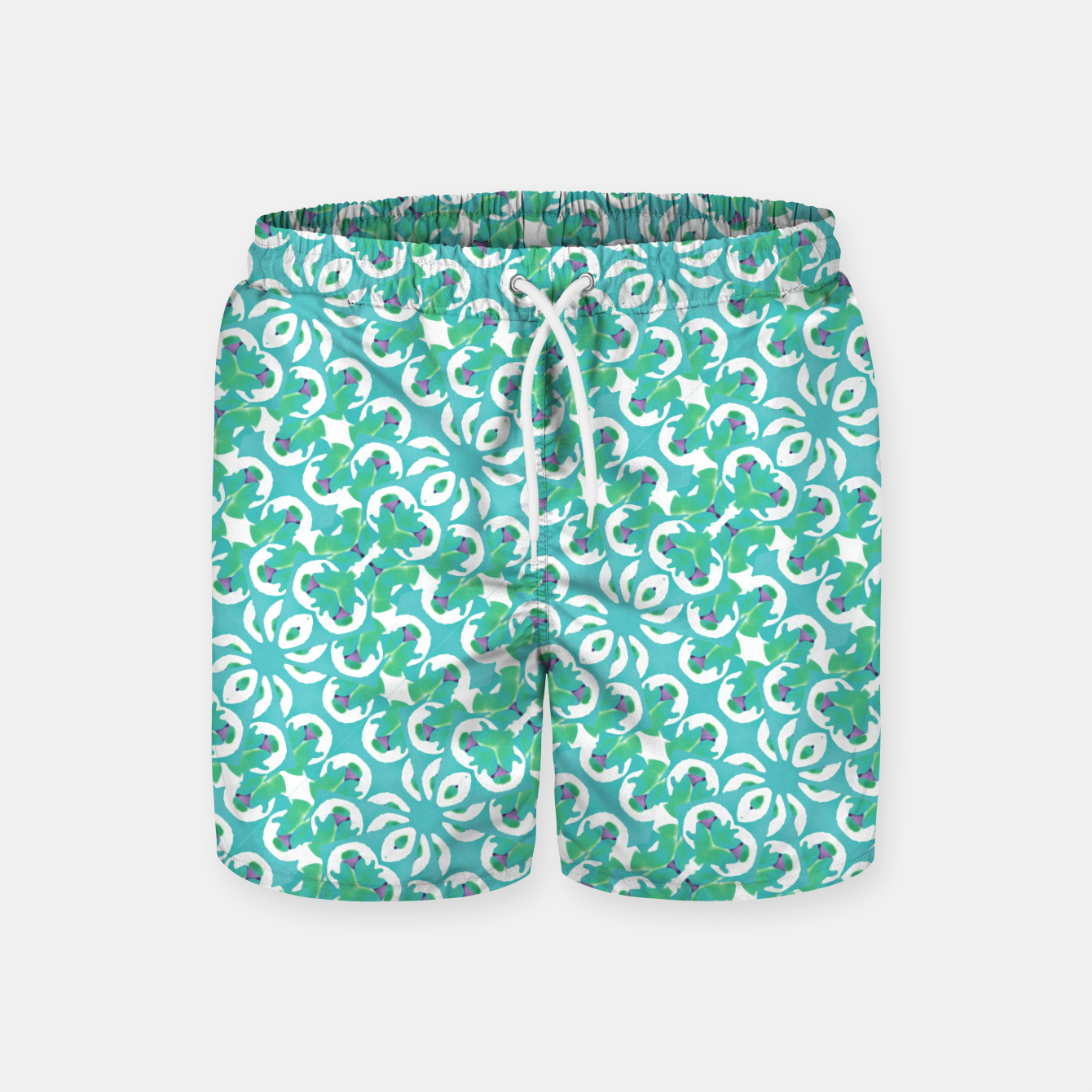 Zdjęcie Colorful Abstract Print Pattern Swim Shorts - Live Heroes