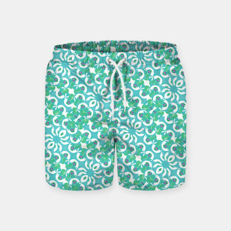 Colorful Abstract Print Pattern Swim Shorts obraz miniatury