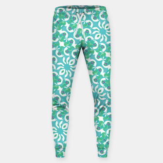 Colorful Abstract Print Pattern Sweatpants obraz miniatury