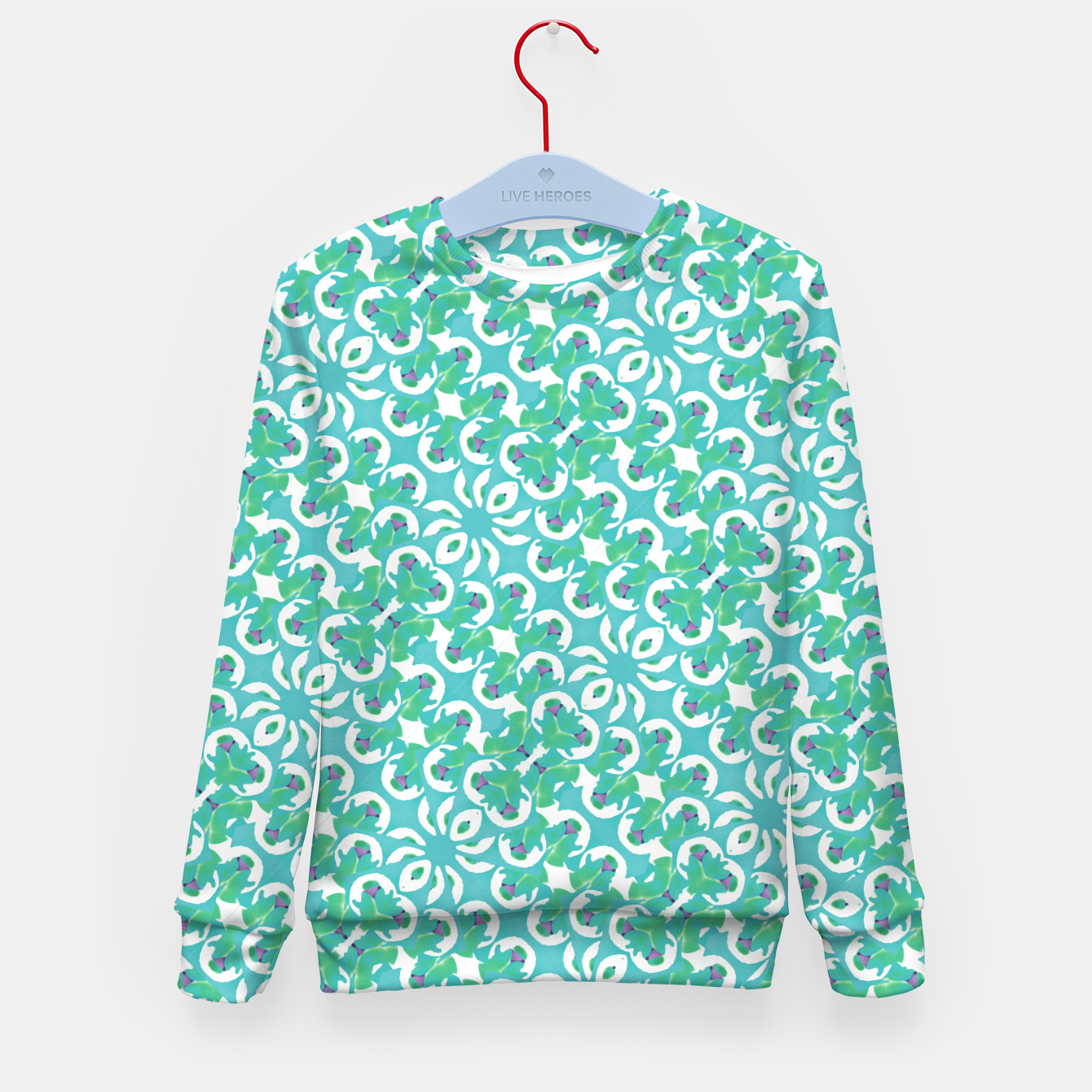 Zdjęcie Colorful Abstract Print Pattern Kid's sweater - Live Heroes