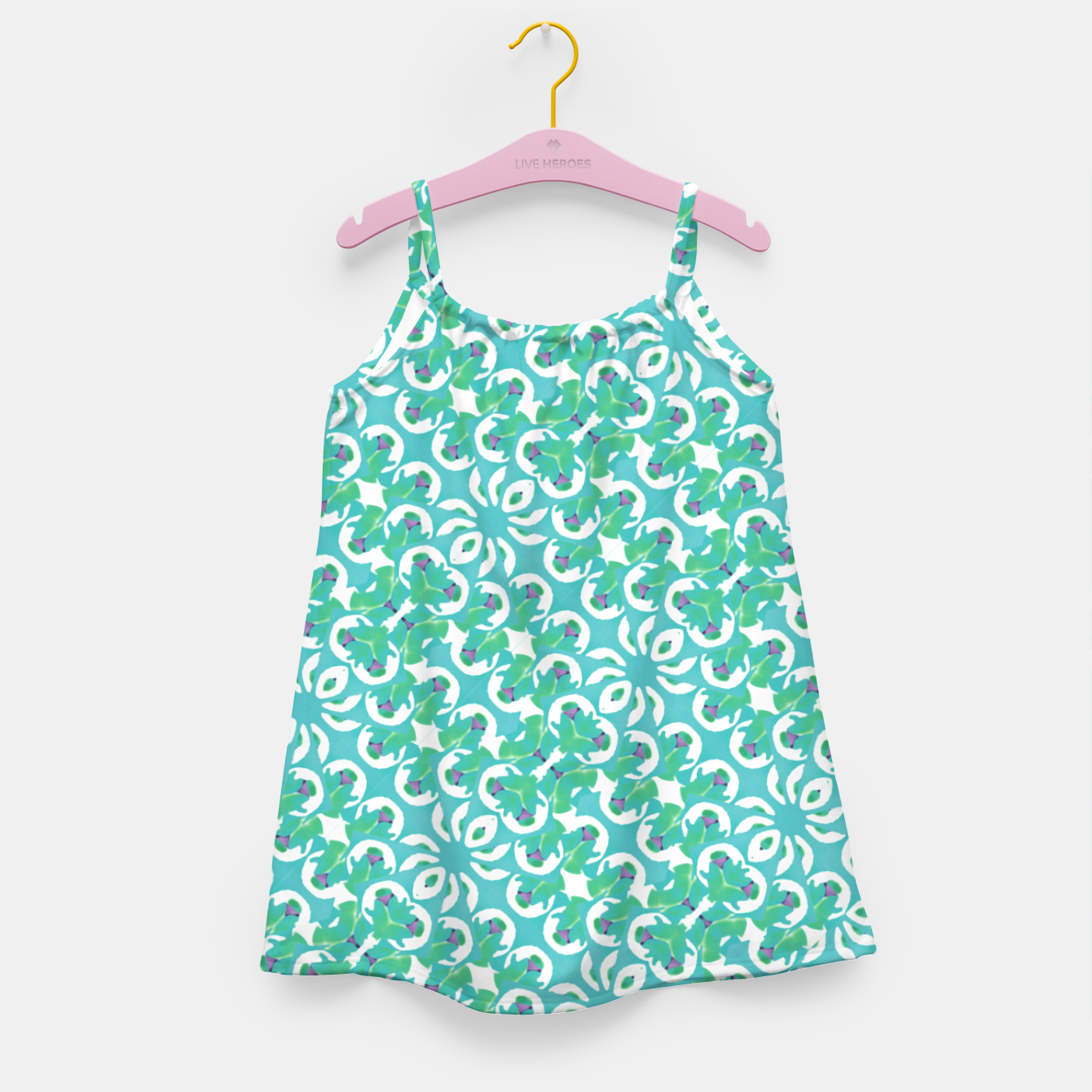 Zdjęcie Colorful Abstract Print Pattern Girl's dress - Live Heroes