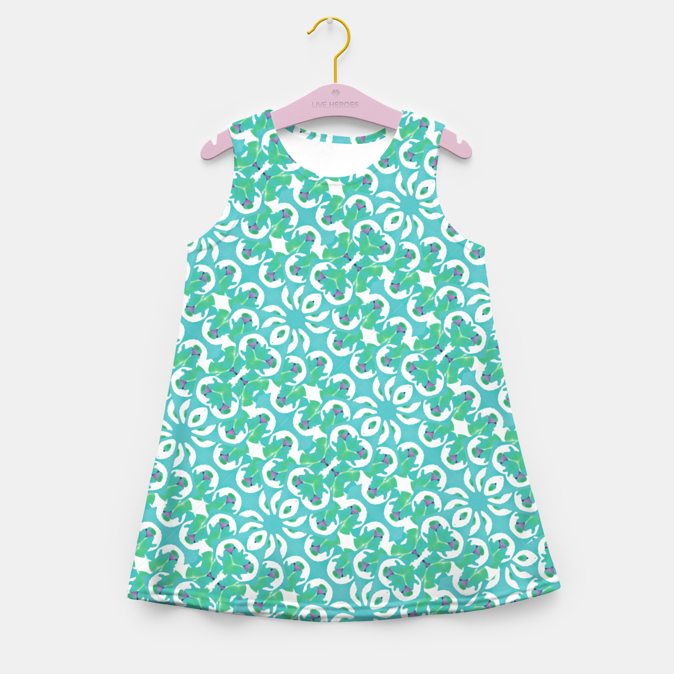 Zdjęcie Colorful Abstract Print Pattern Girl's summer dress - Live Heroes