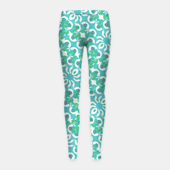 Colorful Abstract Print Pattern Girl's leggings obraz miniatury