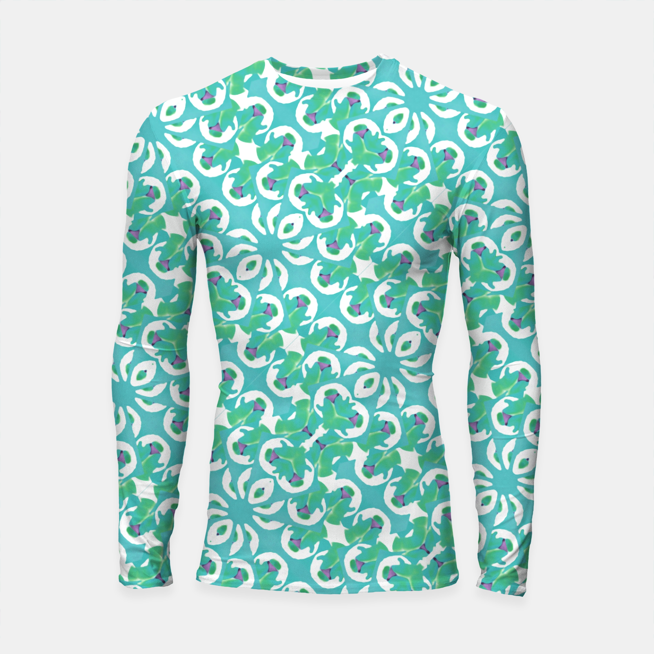 Zdjęcie Colorful Abstract Print Pattern Longsleeve rashguard  - Live Heroes