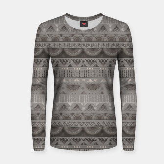 Thumbnail image of Tribal Pattern - 11 Soft Grey Women sweater, Live Heroes