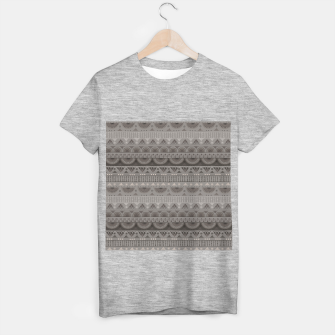 Thumbnail image of Tribal Pattern - 11 Soft Grey T-shirt regular, Live Heroes