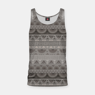 Thumbnail image of Tribal Pattern - 11 Soft Grey Tank Top, Live Heroes