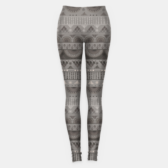 Thumbnail image of Tribal Pattern - 11 Soft Grey Leggings, Live Heroes