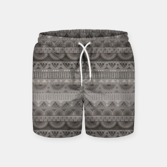Thumbnail image of Tribal Pattern - 11 Soft Grey Swim Shorts, Live Heroes